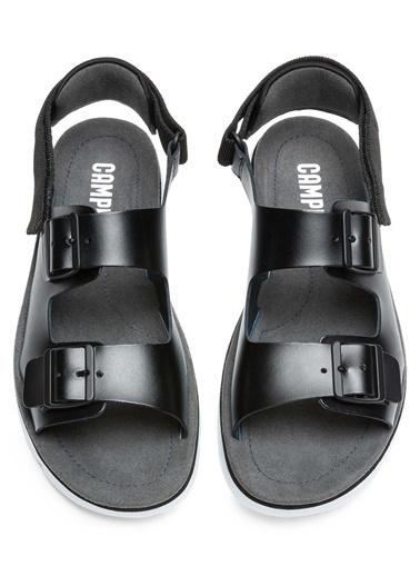 Camper Deri Sandalet Siyah